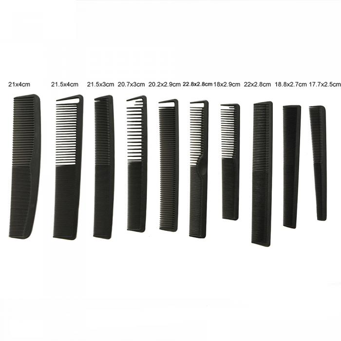 high quality professional cutting black fiber carbon hair comb