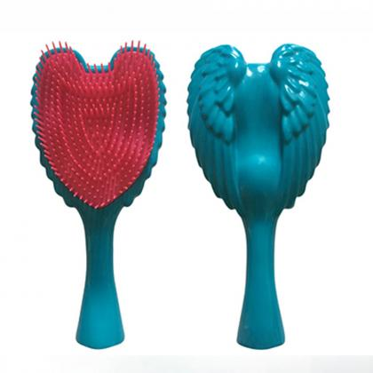 angel shape design hair brush