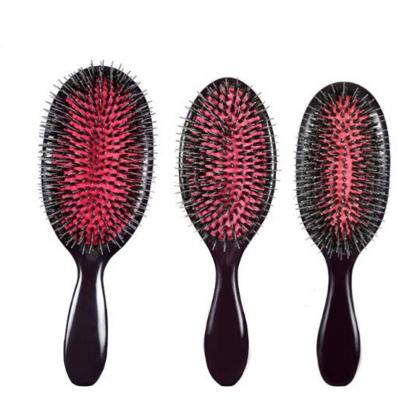 big and medium and small professional boar bristle hair brush