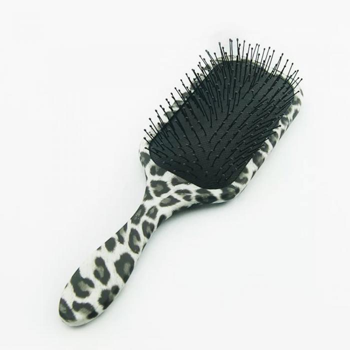 paddle hair brush with animal print